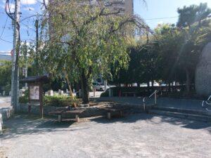 おせん公園のベンチ