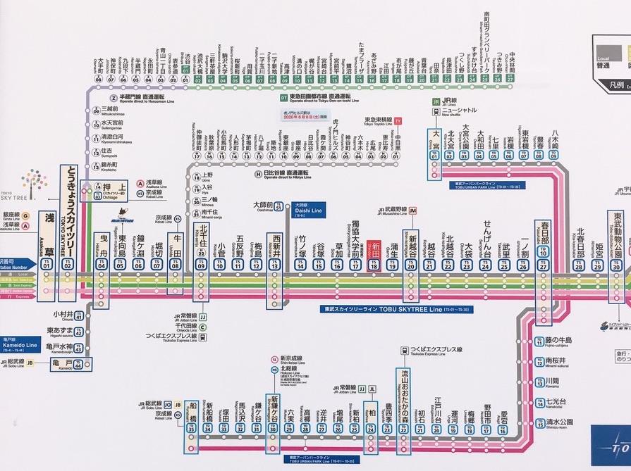 東武鉄道路線図